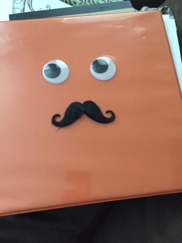 Our production assistant Bob (big orange binder)