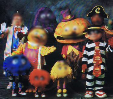 Photo of a photo....of a certain group of people who are friends of a certain clown mentioned in our podcast