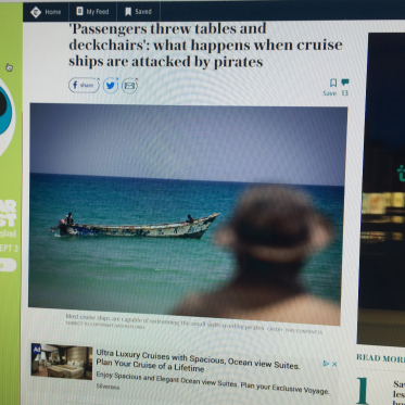 Online Telegraph article about cruise ships and pirates