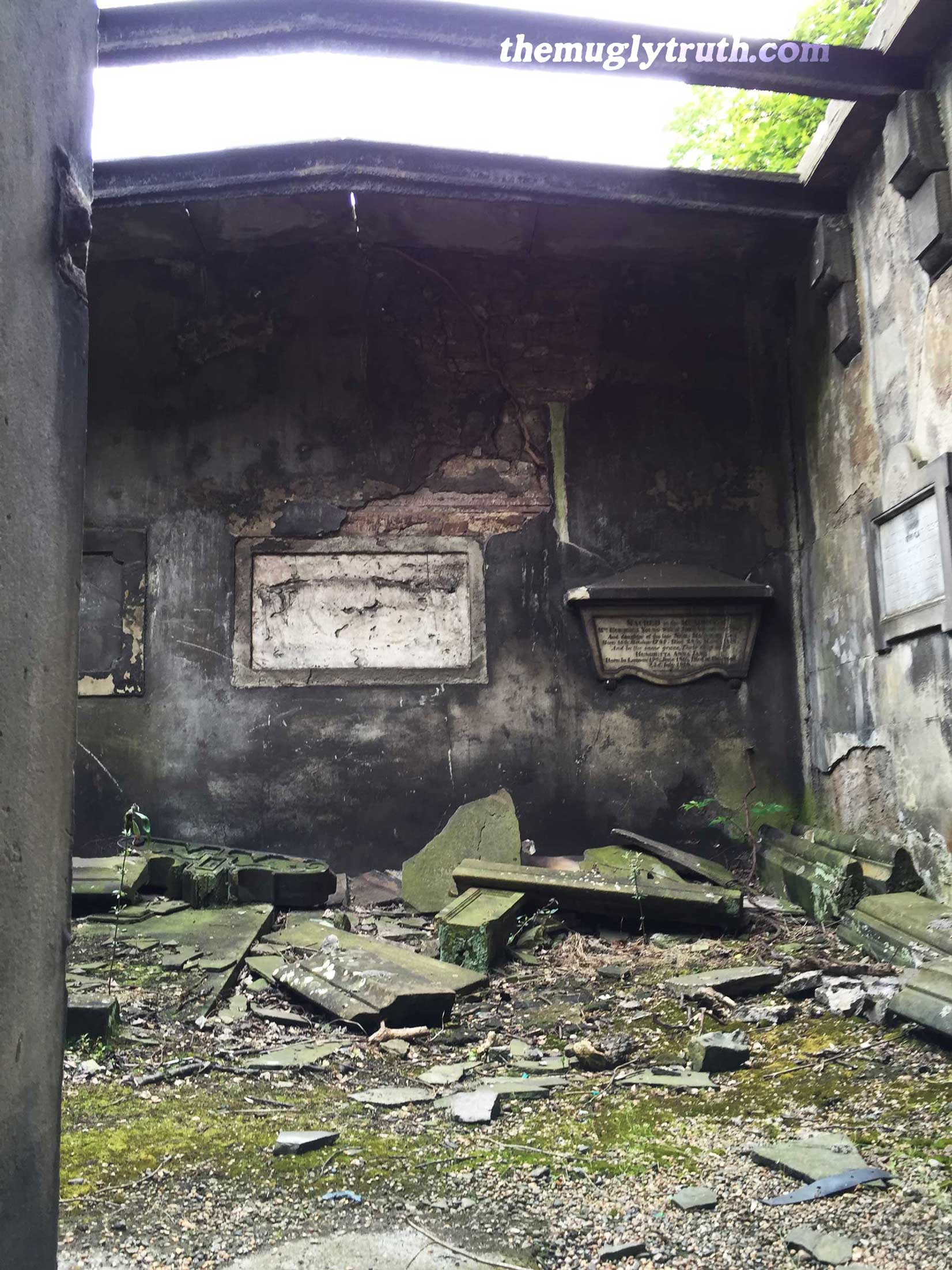 Dilapidated crypt