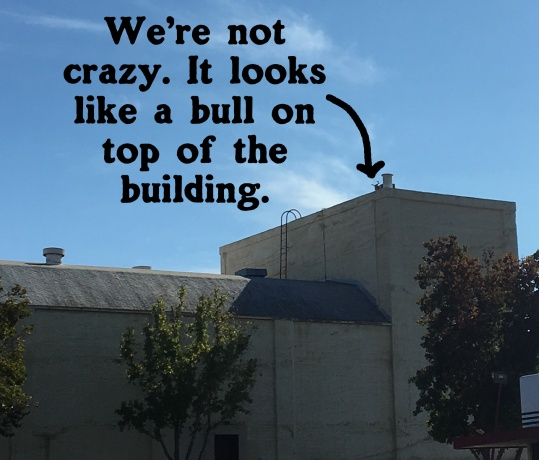 See? There's a bull statue on top of the building. Right? This is NOT bulls**t. (((TEEHEE)))