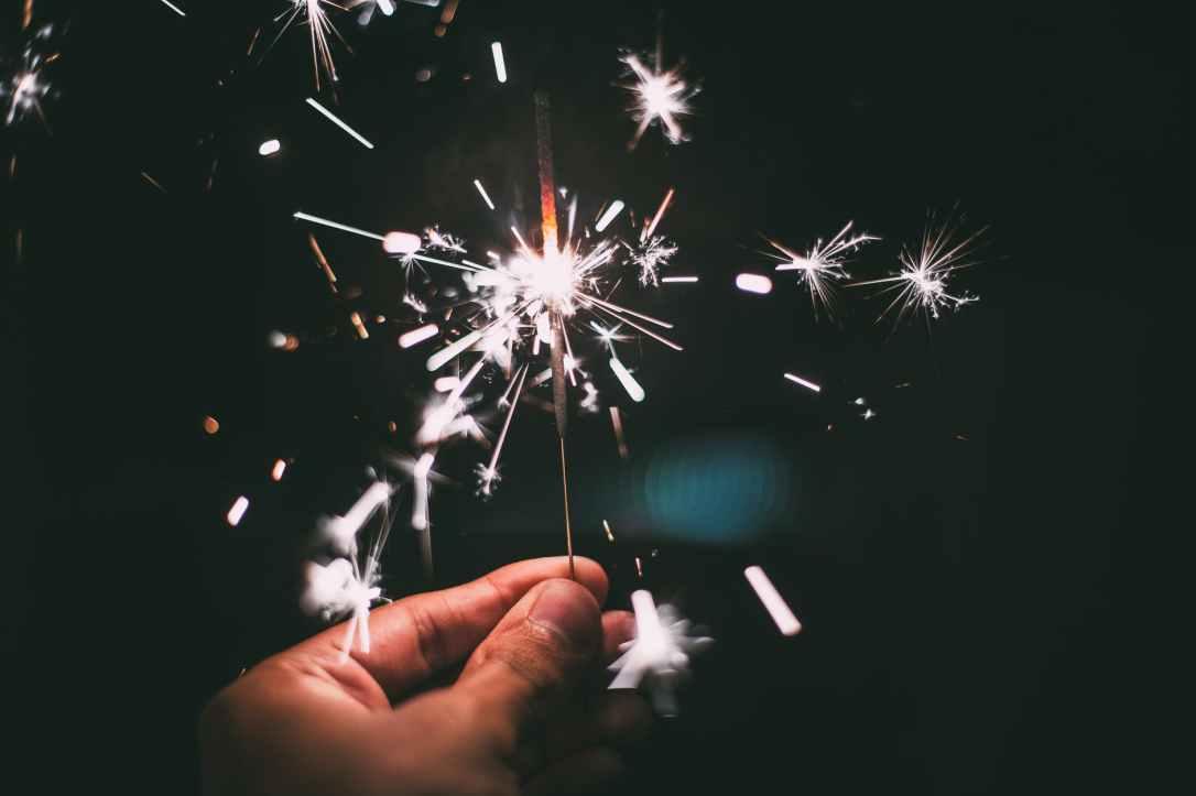 Sparkler New Year's Eve