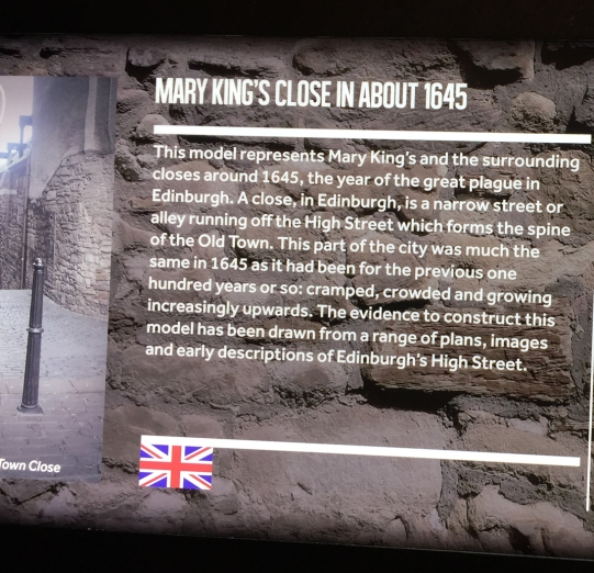 Mary King's Close Plaque