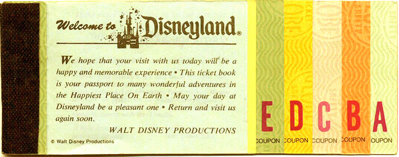 Disney Ticket Book