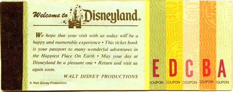 Disney Ticket Book